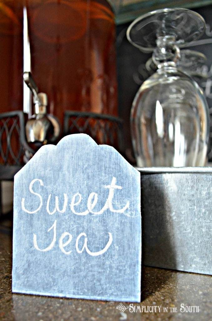 Wisteria inspired chalkboard place cards tutorial