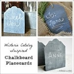 Wisteria Catalog Inspired Chalkboard Place Cards