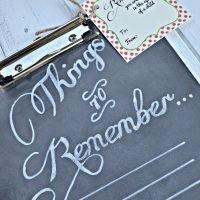 {Things to Remember}: Chalkboard Clipboard Teacher's Appreciation Gift