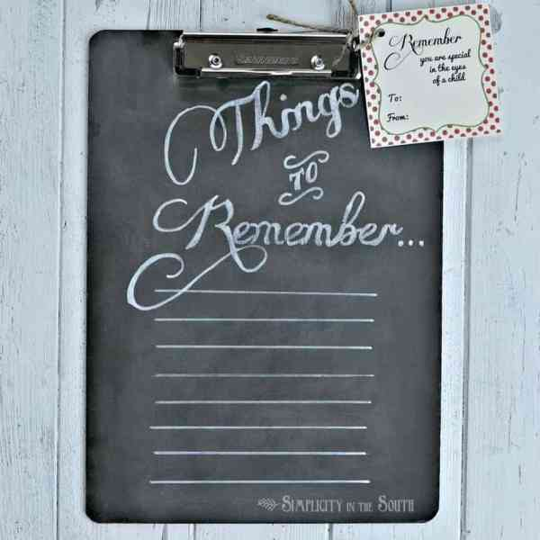 {Things to Remember}: Chalkboard Clipboard Teacher's Gift ...