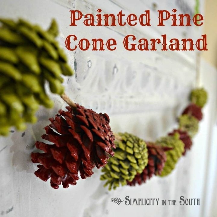 Painted Pinecone Garland {A Simple Christmas Craft Project}