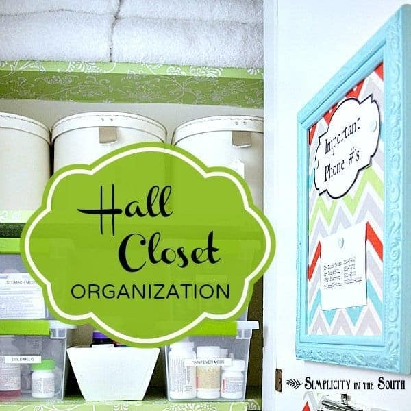 Hall closet organization ideas from Simplicity In The South