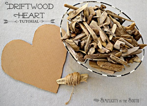 How to make a driftwood heart