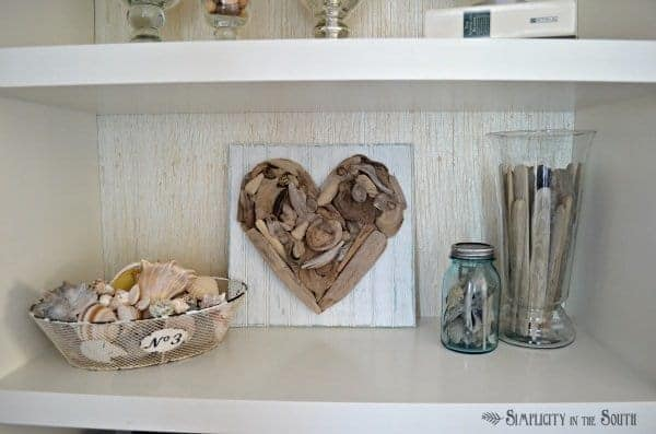 How to make driftwood heart art by Simplicity In The South