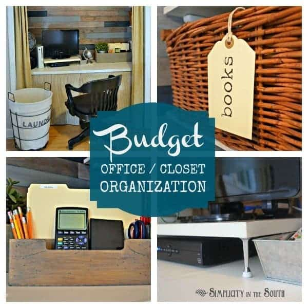 It can be difficult to organize a closet and/or a small office space but these closet office organization ideas are easy and won't break the budget.