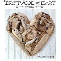 DIY Driftwood Heart Art