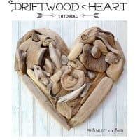 DIY Driftwood Heart Art
