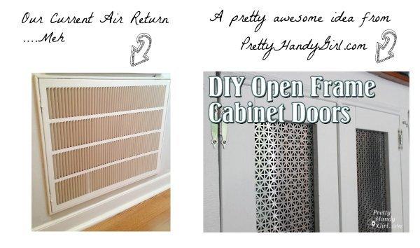 idea for HVAC air return using tutorial from PrettyHandyGirl.com