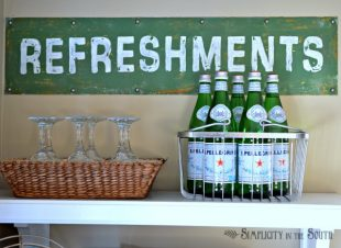 Pottery Barn Knock Off Refreshments Sign.