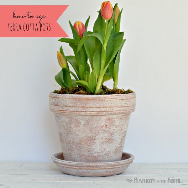 tutorial for aging terra cotta pots