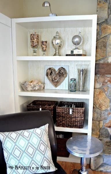 living-room-bookcase Simplicity in the South