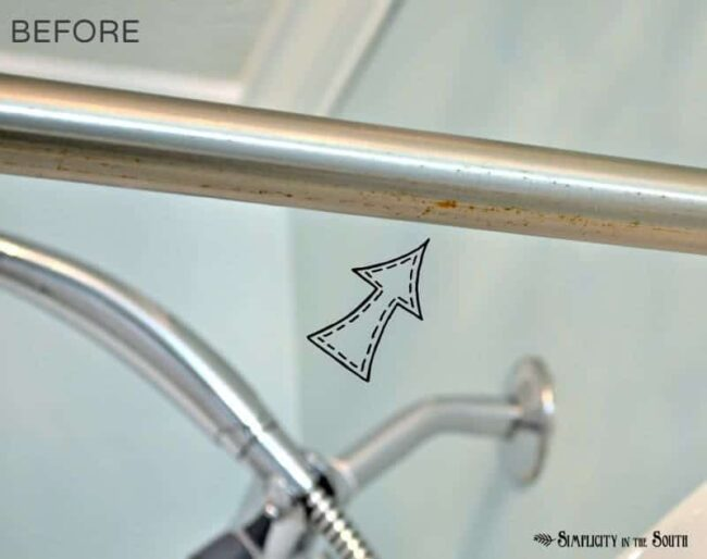 How to clean rust off a chrome shower rod
