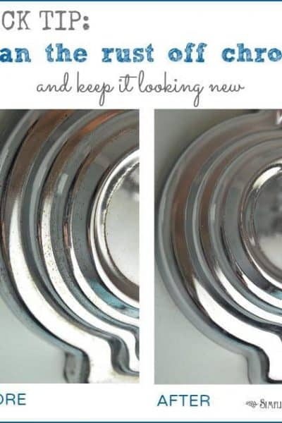 How to clean the rust off chrome bathroom fixtures and keep it looking new.