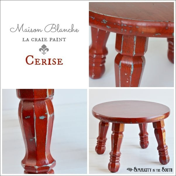 Maison Blanche La Craie Paint in Cerise {The little red step stool}