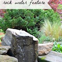A Bubbling Rock Water Feature and a Mini Yard Tour