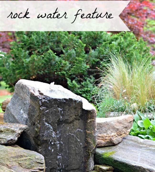 DIY bubbling rock water feature