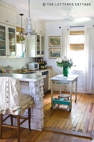 lettered cottage vintage kitchen