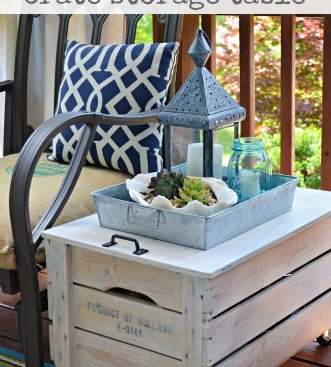 Repurpose a Wooden Crate Into a Rolling Storage Table