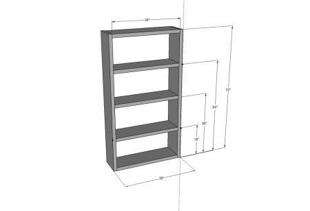 Ikea Lack Bookcase plans by Ana White