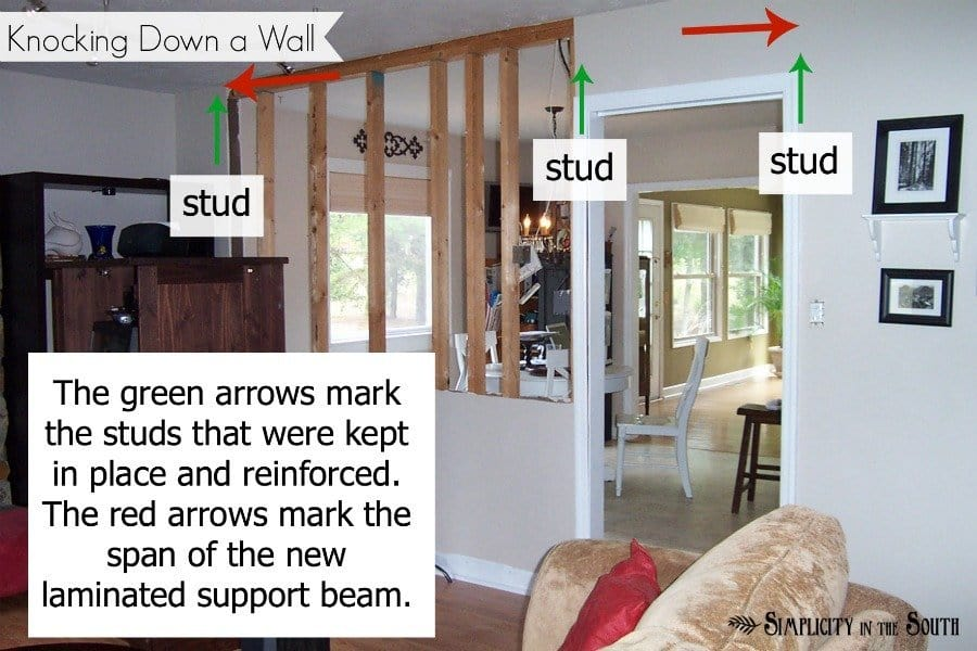 Knocking Down A Load Bearing Wall And Opening Up The Kitchen Simplicity In The South