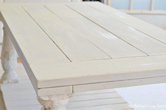 Restoration Hardware Baluster Coffee Table- weathered paint finish tutorial