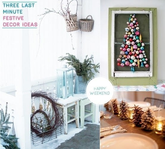 Inspiration for making a Christmas ornament wreath from Bright Bazaar Blog