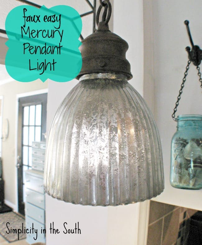 Faux Easy Mercury Pendant Light Simplicity In The South