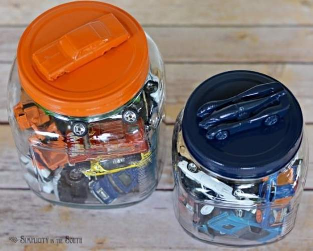 Storage jars for Hot Wheels