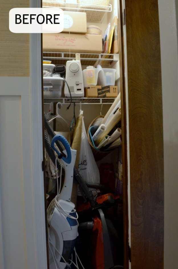 Before- craft closet