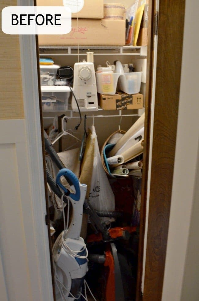 Craft closet before:Craft closet organization tips: Part of the small home, big ideas series, find out how to organize your craft supplies