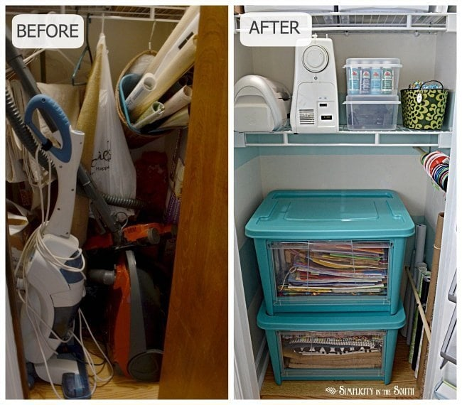 Craft closet makeover and organization. Craft closet organization tips: Part of the small home, big ideas series, find out how to organize your craft supplies
