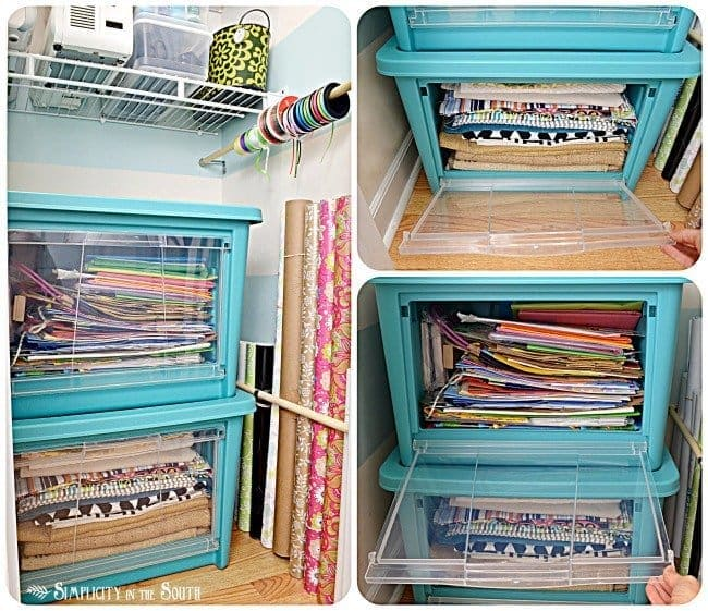 Craft closet makeover with Rubbermaid All Access Organizers:Craft closet organization tips: Part of the small home, big ideas series, find out how to organize your craft supplies