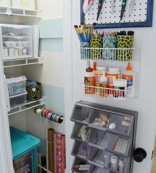 Craft closet organization ideas