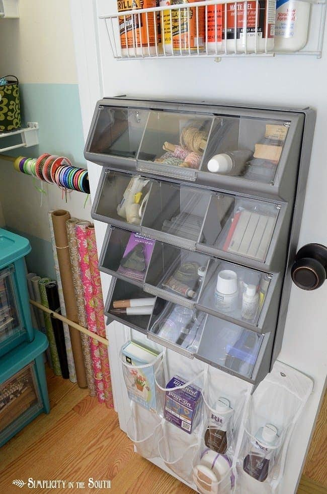 Craft closet storage ideas.Craft closet organization tips: Part of the small home, big ideas series, find out how to organize your craft supplies