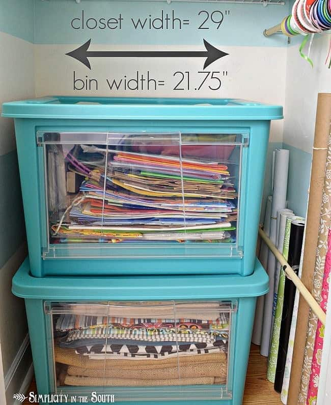 Rubbermaid-All-Access-Organizers-Closet-Organization.Craft closet organization tips: Part of the small home, big ideas series, find out how to organize your craft supplies
