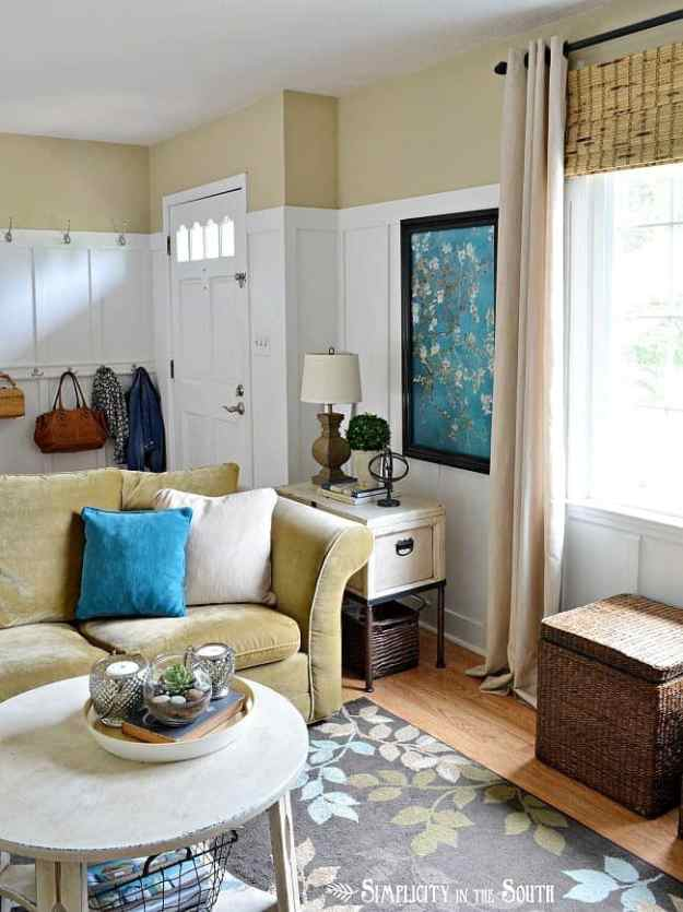 Living room with board and batten