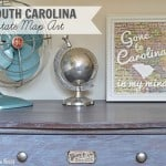 DIY South Carolina Map Art- State Pride Tour