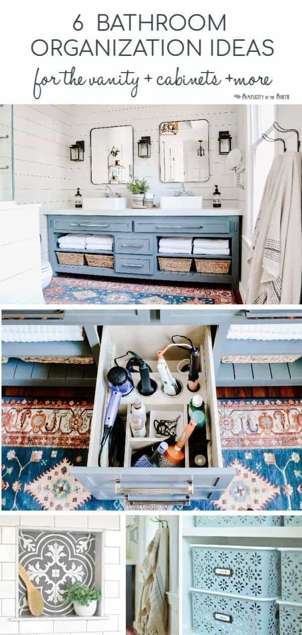 6 Organization Ideas for the Bathroom