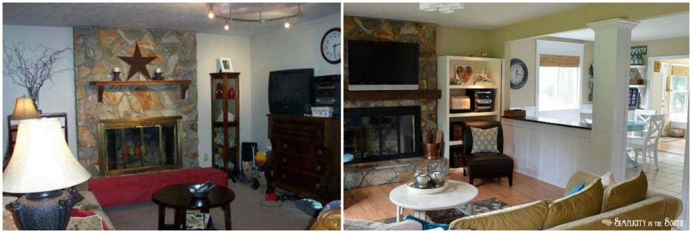 before after living room opened up
