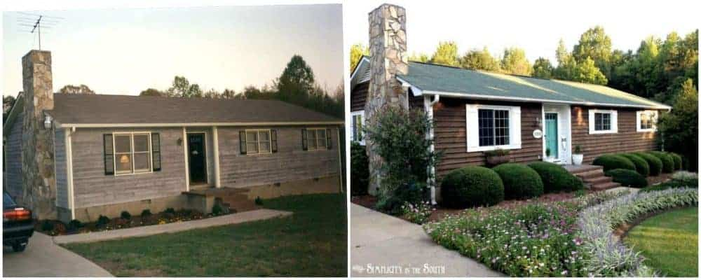 before and after the 80's rancher exterior