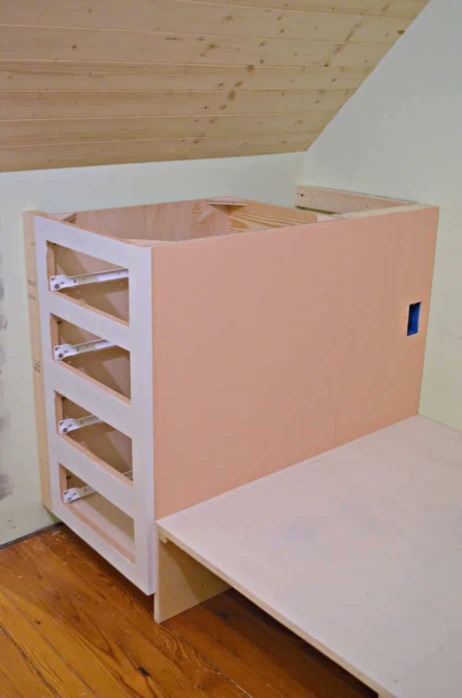 How To Make A Built-in Bed Using Kitchen Cabinets