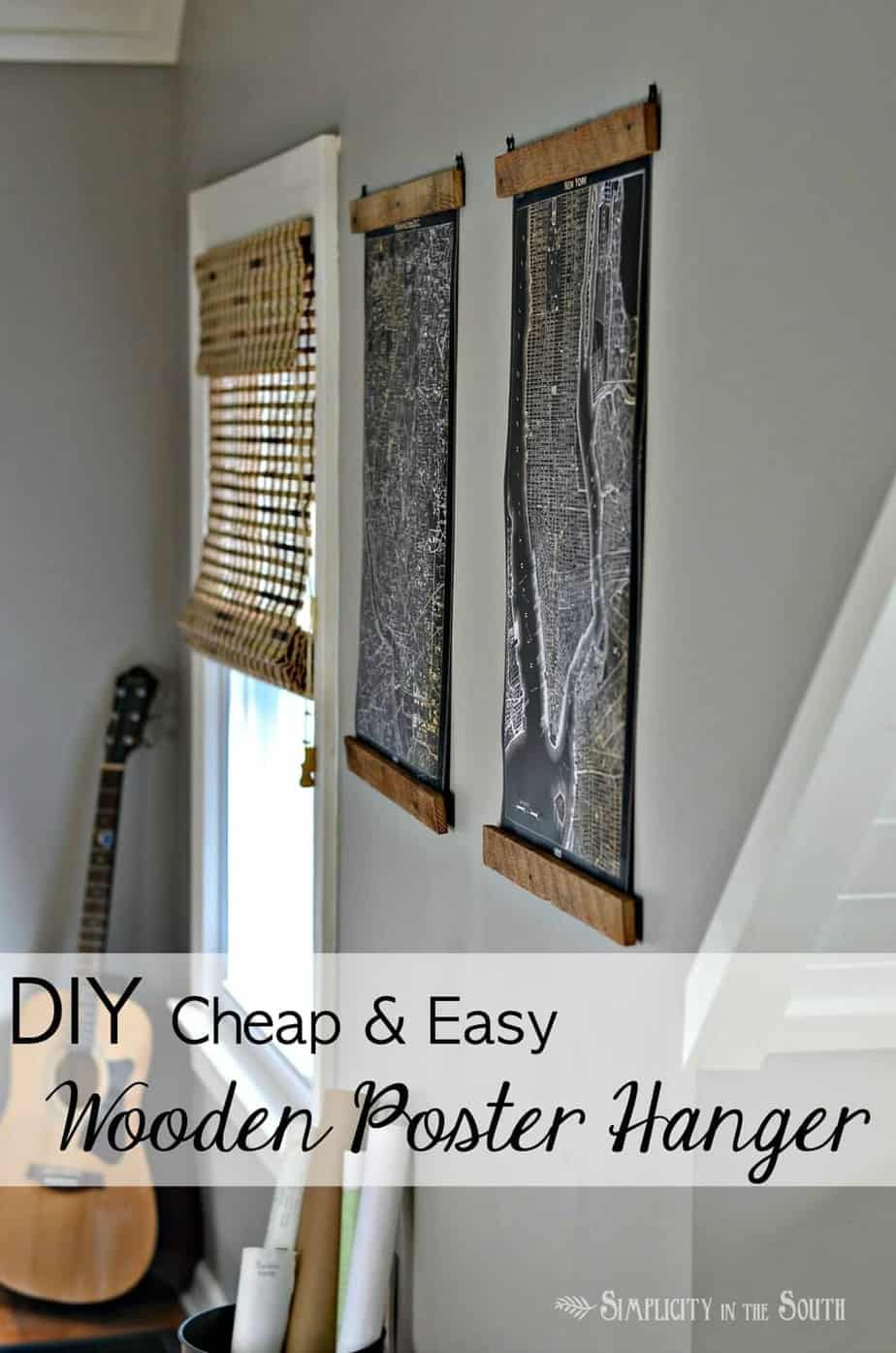 reclaimed wood poster hangers