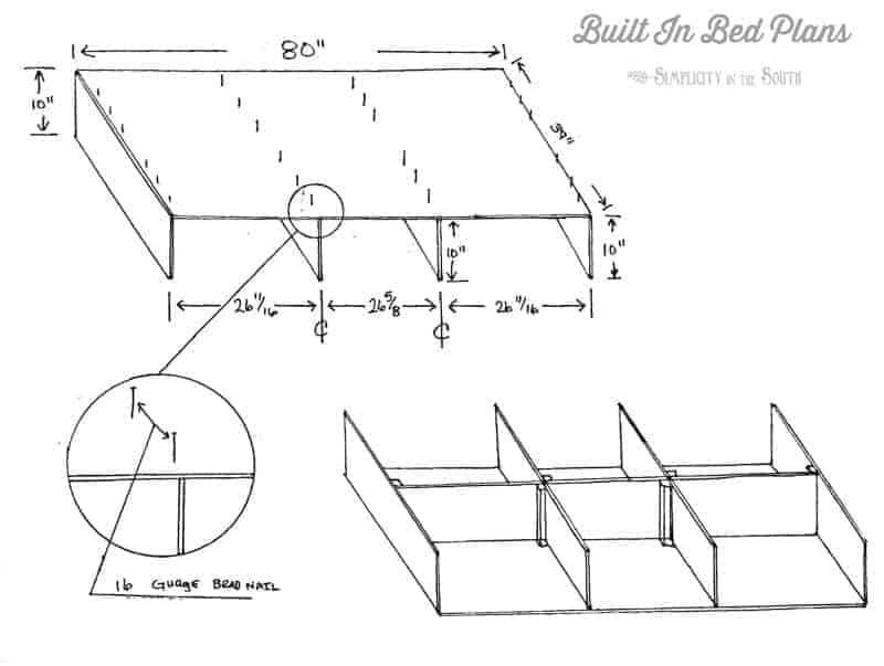 Built In Bed Plans