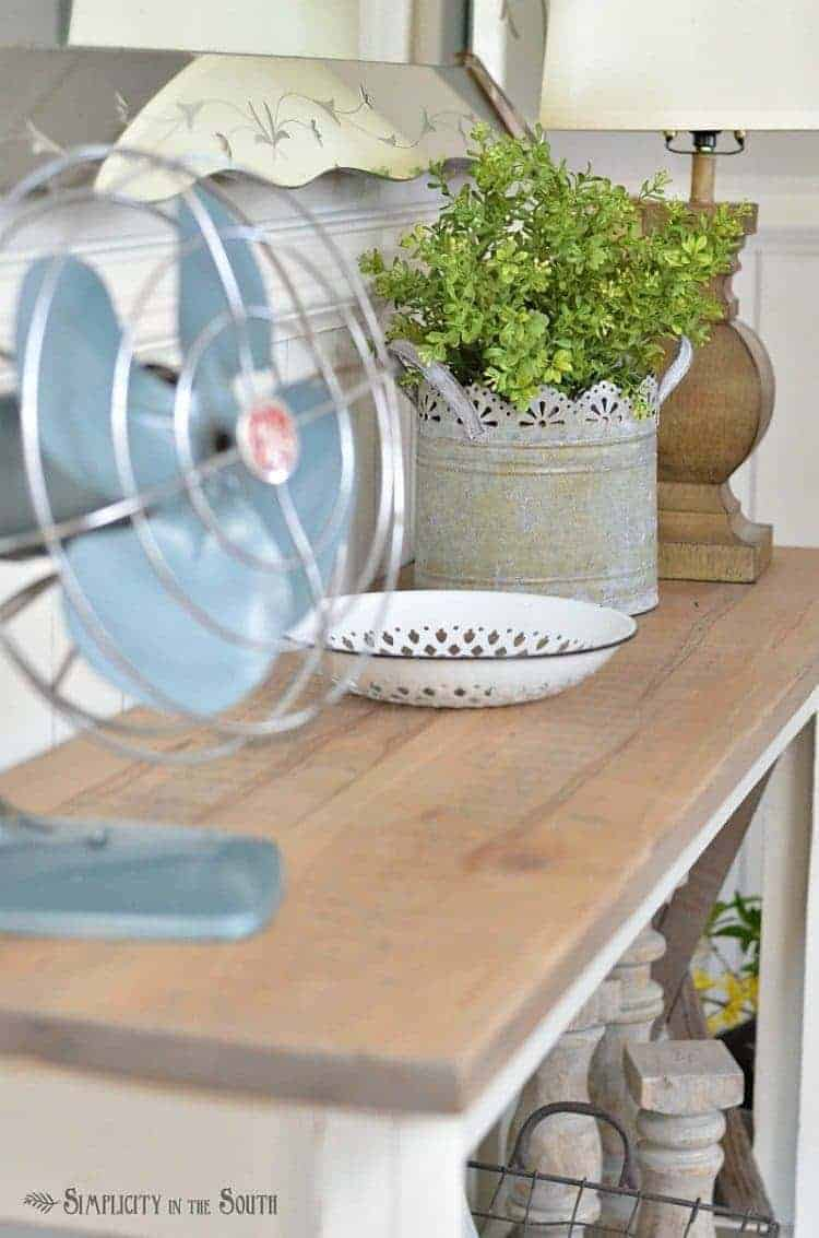 Spring Home Tour- foyer table