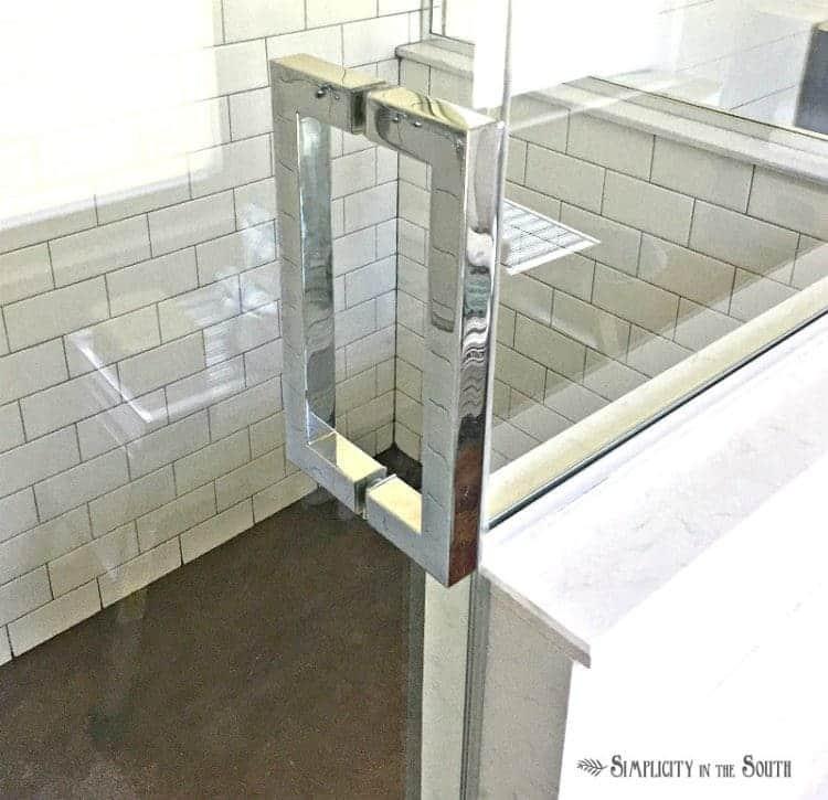 square shower door handle
