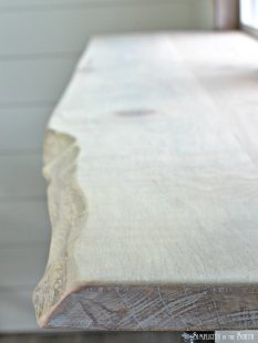 DIY Live Edge Bar and how to connect planks of wood using basic tools
