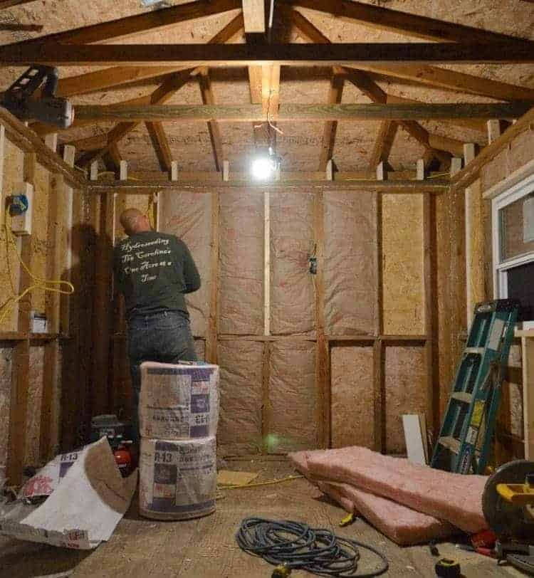 Insulating the cottage shed