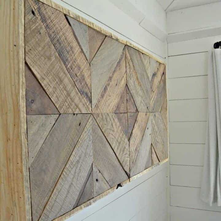 DIY Reclaimed Wood Sliding TV Cover: Now You See It. Now You Don't