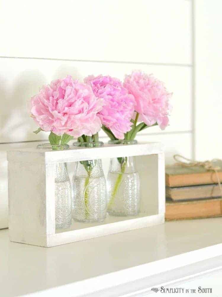 DIY Wooden Vase Holder Idea Dollar Tree Crafts.