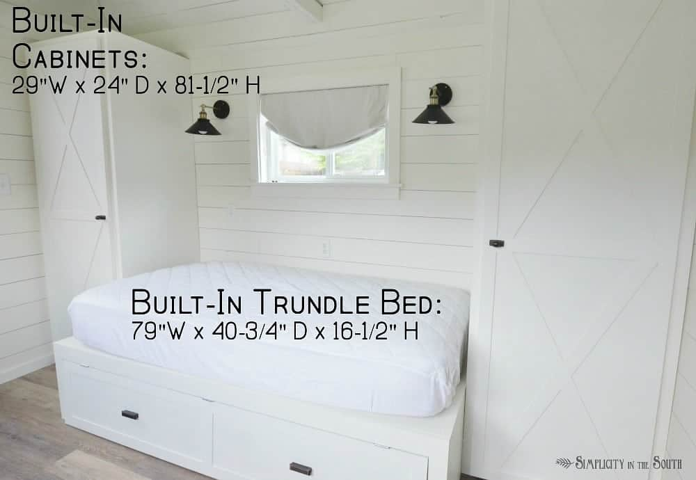 How to make your own built in trundle bed and cabinets dimensions